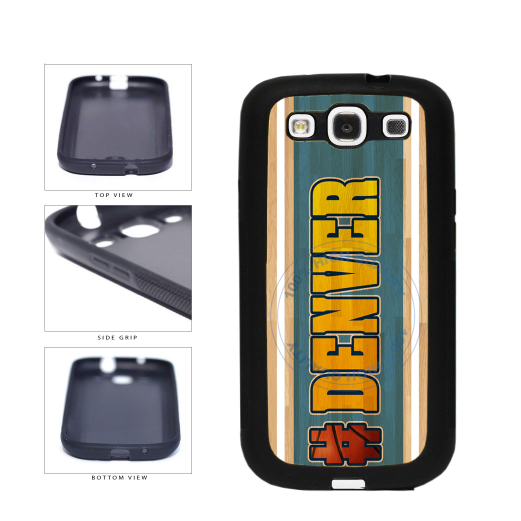 Basketball Team Hashtag Denver #Denver TPU Rubber SILICONE Phone Case Back Cover For Samsung Galaxy S3 I9300 includes BleuReign(TM) Cloth and Warranty Label