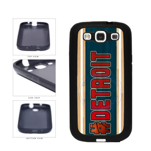 Basketball Team Hashtag Detroit #Detroit TPU Rubber SILICONE Phone Case Back Cover For Samsung Galaxy S3 I9300 includes BleuReign(TM) Cloth and Warranty Label