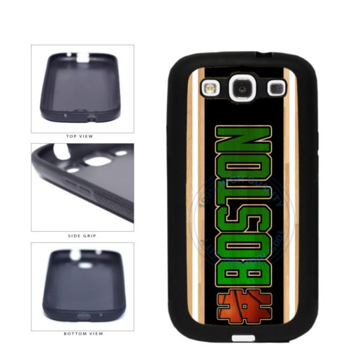 Basketball Team Hashtag Boston #Boston TPU Rubber SILICONE Phone Case Back Cover For Samsung Galaxy S3 I9300 includes BleuReign(TM) Cloth and Warranty Label