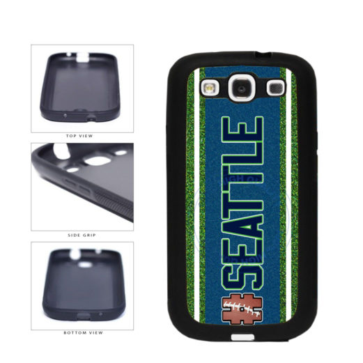 Hashtag Seattle #Seattle Football Team TPU Rubber SILICONE Phone Case Back Cover For Samsung Galaxy S3 I9300 includes BleuReign(TM) Cloth and Warranty Label