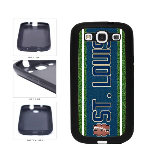 Hashtag St. Louis #StLouis Football Team TPU Rubber SILICONE Phone Case Back Cover For Samsung Galaxy S3 I9300 includes BleuReign(TM) Cloth and Warranty Label