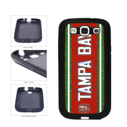 Hashtag Tampa Bay #TampaBay Football Team TPU Rubber SILICONE Phone Case Back Cover For Samsung Galaxy S3 I9300 includes BleuReign(TM) Cloth and Warranty Label