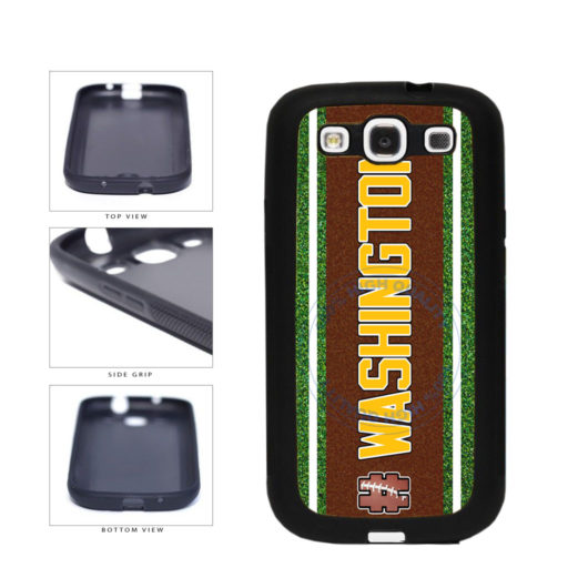 Hashtag Washington #Washington Football Team TPU Rubber SILICONE Phone Case Back Cover For Samsung Galaxy S3 I9300 includes BleuReign(TM) Cloth and Warranty Label