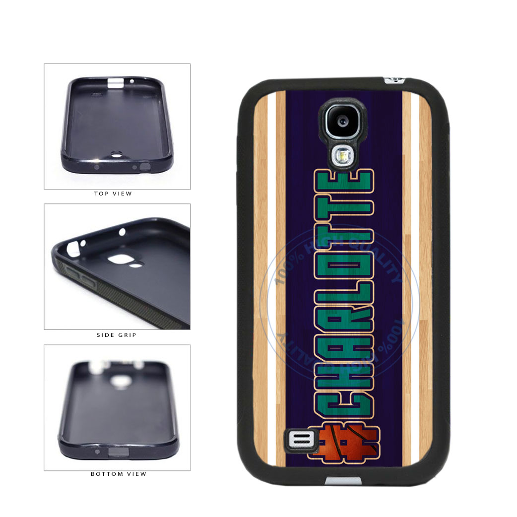 Basketball Team Hashtag Charlotte #Charlotte TPU Rubber SILICONE Phone Case Back Cover For Samsung Galaxy S4 I9500 includes BleuReign(TM) Cloth and Warranty Label