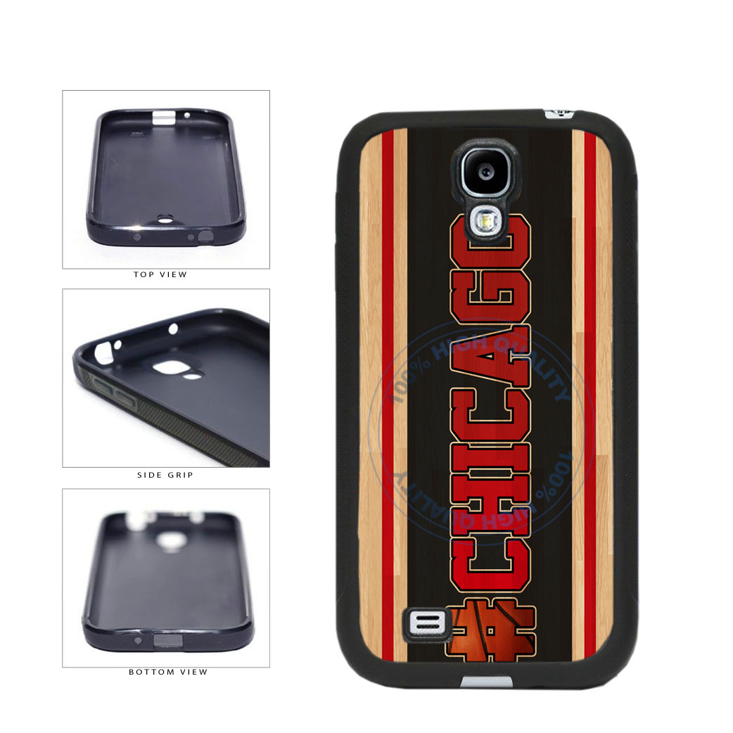 Basketball Team Hashtag Chicago #Chicago TPU Rubber SILICONE Phone Case Back Cover For Samsung Galaxy S4 I9500 includes BleuReign(TM) Cloth and Warranty Label
