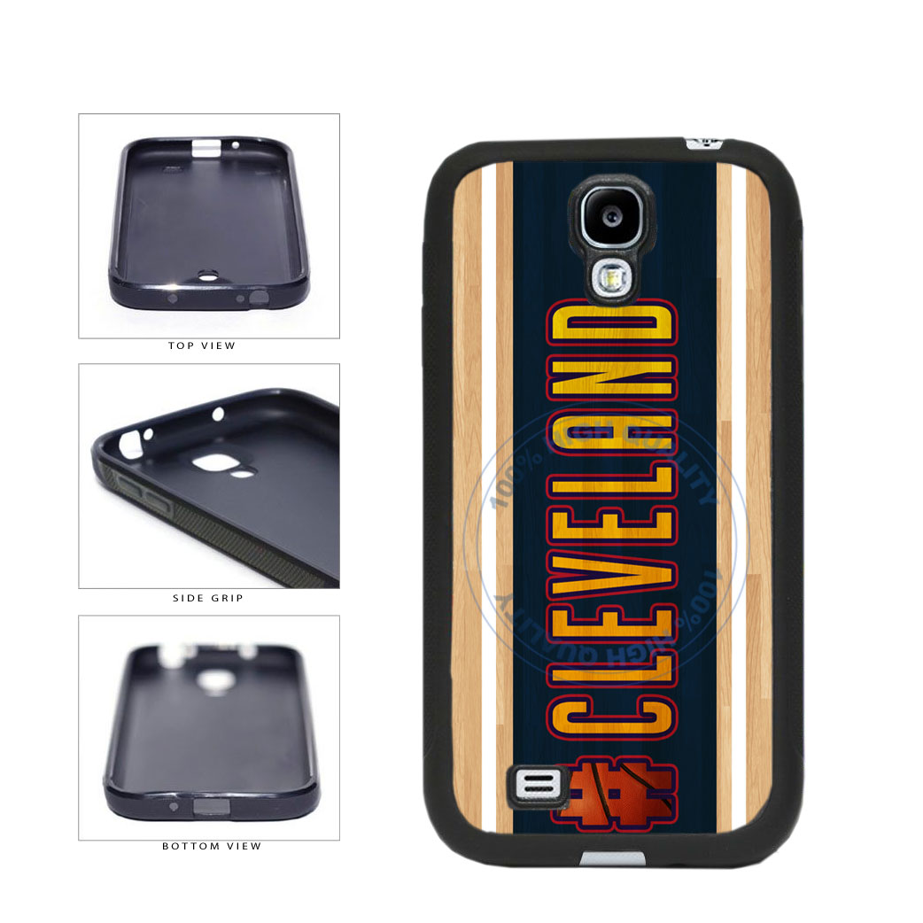 Basketball Team Hashtag Cleveland #Cleveland TPU Rubber SILICONE Phone Case Back Cover For Samsung Galaxy S4 I9500 includes BleuReign(TM) Cloth and Warranty Label