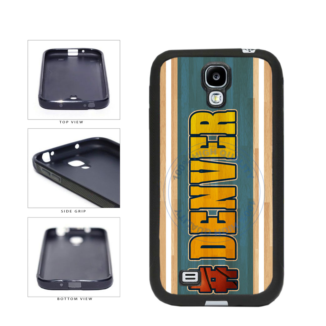 Basketball Team Hashtag Denver #Denver TPU Rubber SILICONE Phone Case Back Cover For Samsung Galaxy S4 I9500 includes BleuReign(TM) Cloth and Warranty Label