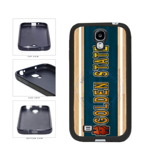 Basketball Team Hashtag Golden State #GoldenState TPU Rubber SILICONE Phone Case Back Cover For Samsung Galaxy S4 I9500 includes BleuReign(TM) Cloth and Warranty Label