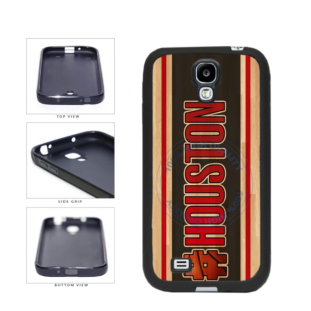 Basketball Team Hashtag Houston #Houston TPU Rubber SILICONE Phone Case Back Cover For Samsung Galaxy S4 I9500 includes BleuReign(TM) Cloth and Warranty Label