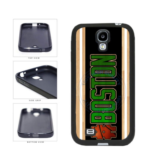 Basketball Team Hashtag Boston #Boston TPU Rubber SILICONE Phone Case Back Cover For Samsung Galaxy S4 I9500 includes BleuReign(TM) Cloth and Warranty Label