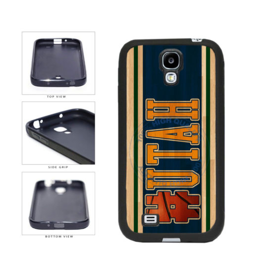 Basketball Team Hashtag Utah #Utah TPU Rubber SILICONE Phone Case Back Cover For Samsung Galaxy S4 I9500 includes BleuReign(TM) Cloth and Warranty Label