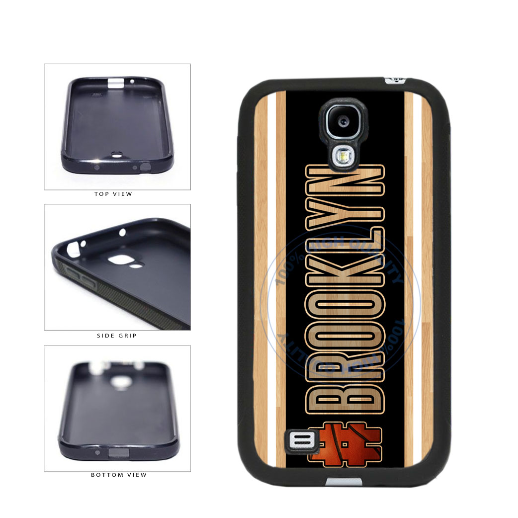 Basketball Team Hashtag Brooklyn #Brooklyn TPU Rubber SILICONE Phone Case Back Cover For Samsung Galaxy S4 I9500 includes BleuReign(TM) Cloth and Warranty Label