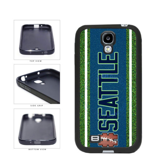 Hashtag Seattle #Seattle Football Team TPU Rubber SILICONE Phone Case Back Cover For Samsung Galaxy S4 I9500 includes BleuReign(TM) Cloth and Warranty Label