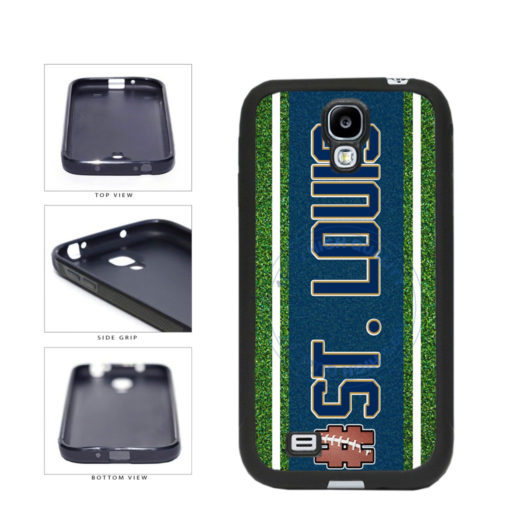 Hashtag St. Louis #StLouis Football Team TPU Rubber SILICONE Phone Case Back Cover For Samsung Galaxy S4 I9500 includes BleuReign(TM) Cloth and Warranty Label