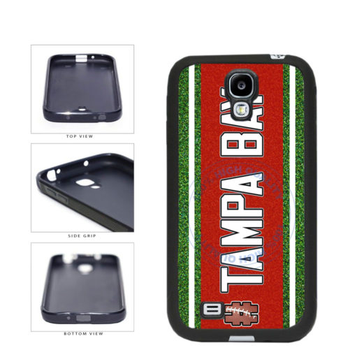 Hashtag Tampa Bay #TampaBay Football Team TPU Rubber SILICONE Phone Case Back Cover For Samsung Galaxy S4 I9500 includes BleuReign(TM) Cloth and Warranty Label