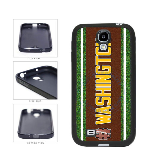 Hashtag Washington #Washington Football Team TPU Rubber SILICONE Phone Case Back Cover For Samsung Galaxy S4 I9500 includes BleuReign(TM) Cloth and Warranty Label