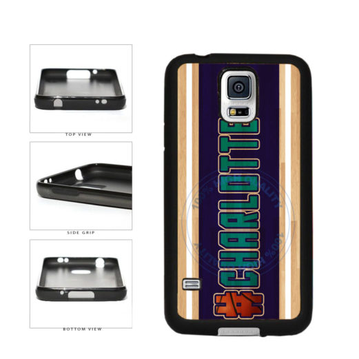 Basketball Team Hashtag Charlotte #Charlotte TPU Rubber SILICONE Phone Case Back Cover For Samsung Galaxy S5 I9600 includes BleuReign(TM) Cloth and Warranty Label