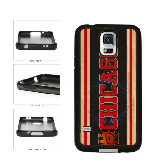 Basketball Team Hashtag Chicago #Chicago TPU Rubber SILICONE Phone Case Back Cover For Samsung Galaxy S5 I9600 includes BleuReign(TM) Cloth and Warranty Label
