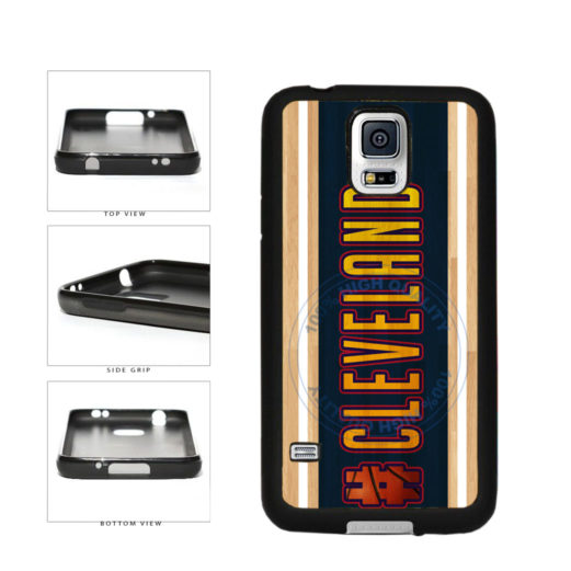 Basketball Team Hashtag Cleveland #Cleveland TPU Rubber SILICONE Phone Case Back Cover For Samsung Galaxy S5 I9600 includes BleuReign(TM) Cloth and Warranty Label