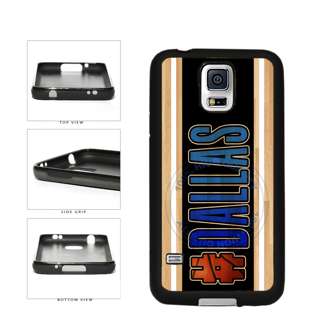 Basketball Team Hashtag Dallas #Dallas TPU Rubber SILICONE Phone Case Back Cover For Samsung Galaxy S5 I9600 includes BleuReign(TM) Cloth and Warranty Label