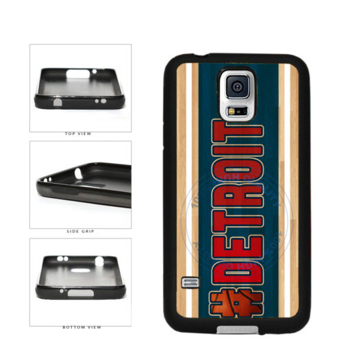 Basketball Team Hashtag Detroit #Detroit TPU Rubber SILICONE Phone Case Back Cover For Samsung Galaxy S5 I9600 includes BleuReign(TM) Cloth and Warranty Label