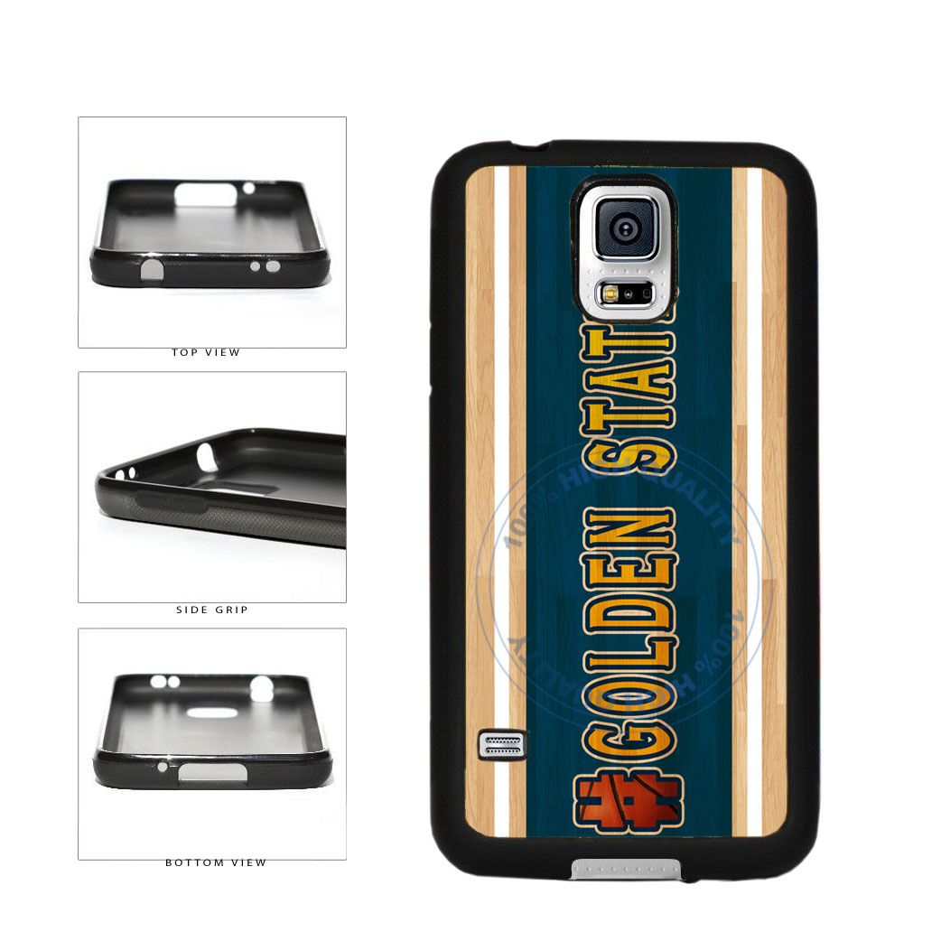 Basketball Team Hashtag Golden State #GoldenState TPU Rubber SILICONE Phone Case Back Cover For Samsung Galaxy S5 I9600 includes BleuReign(TM) Cloth and Warranty Label