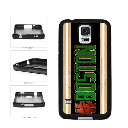 Basketball Team Hashtag Boston #Boston TPU Rubber SILICONE Phone Case Back Cover For Samsung Galaxy S5 I9600 includes BleuReign(TM) Cloth and Warranty Label