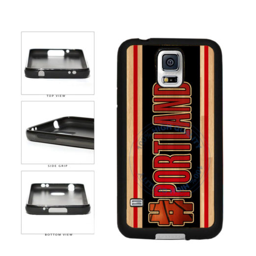 Basketball Team Hashtag Portland #Portland TPU Rubber SILICONE Phone Case Back Cover For Samsung Galaxy S5 I9600 includes BleuReign(TM) Cloth and Warranty Label