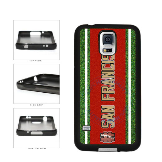 Hashtag San Francisco #SanFrancisco Football Team TPU Rubber SILICONE Phone Case Back Cover For Samsung Galaxy S5 I9600 includes BleuReign(TM) Cloth and Warranty Label