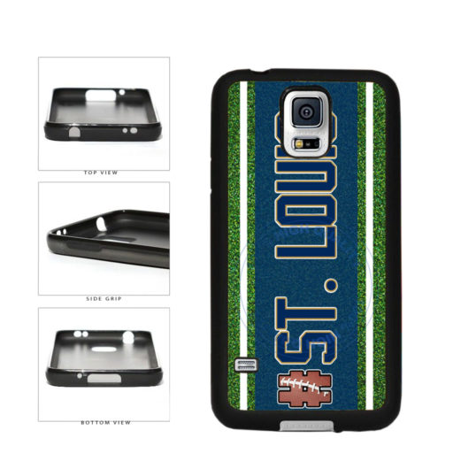 Hashtag St. Louis #StLouis Football Team TPU Rubber SILICONE Phone Case Back Cover For Samsung Galaxy S5 I9600 includes BleuReign(TM) Cloth and Warranty Label