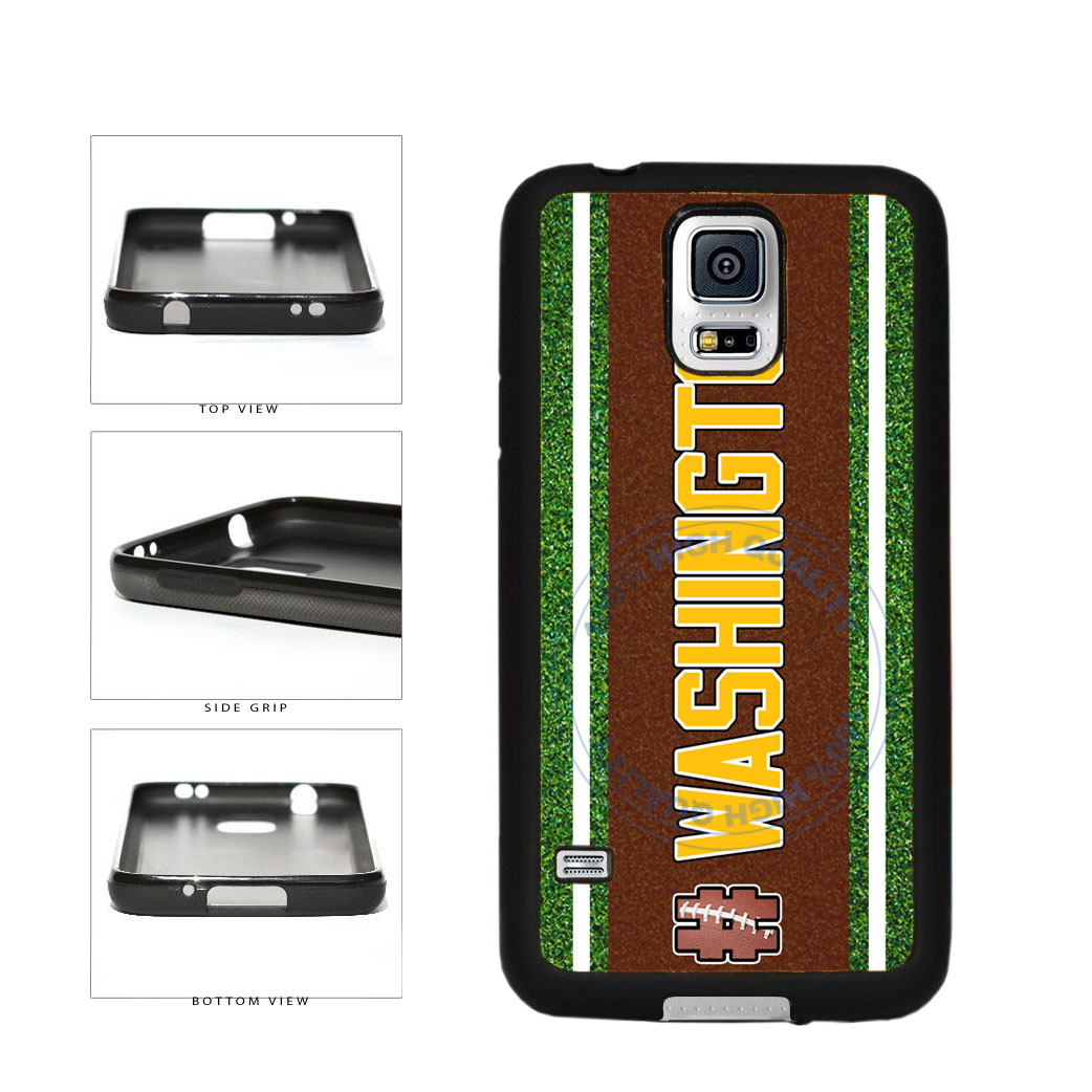 Hashtag Washington #Washington Football Team TPU Rubber SILICONE Phone Case Back Cover For Samsung Galaxy S5 I9600 includes BleuReign(TM) Cloth and Warranty Label
