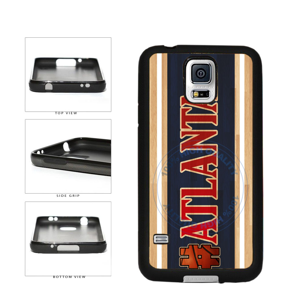 Basketball Team Hashtag Atlanta #Atlanta TPU Rubber SILICONE Phone Case Back Cover For Samsung Galaxy S5 I9600 includes BleuReign(TM) Cloth and Warranty Label