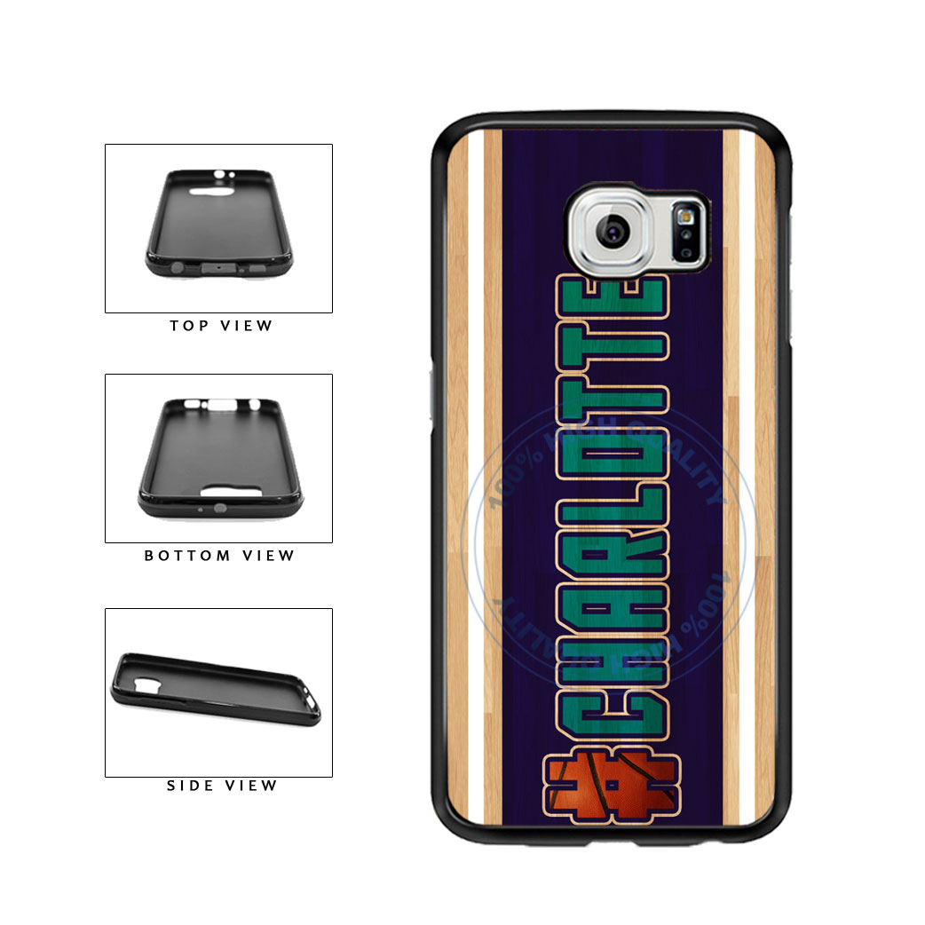 Basketball Team Hashtag Charlotte #Charlotte TPU Rubber SILICONE Phone Case Back Cover For Samsung Galaxy S6 Edge G925 includes BleuReign(TM) Cloth and Warranty Label