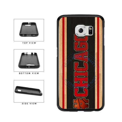 Basketball Team Hashtag Chicago #Chicago TPU Rubber SILICONE Phone Case Back Cover For Samsung Galaxy S6 Edge G925 includes BleuReign(TM) Cloth and Warranty Label