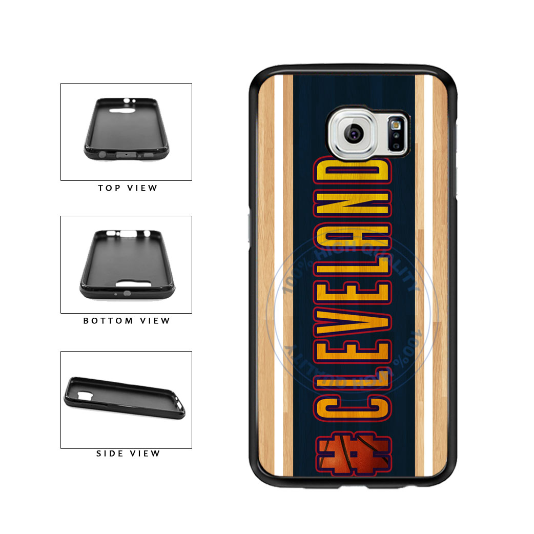 Basketball Team Hashtag Cleveland #Cleveland TPU Rubber SILICONE Phone Case Back Cover For Samsung Galaxy S6 Edge G925 includes BleuReign(TM) Cloth and Warranty Label