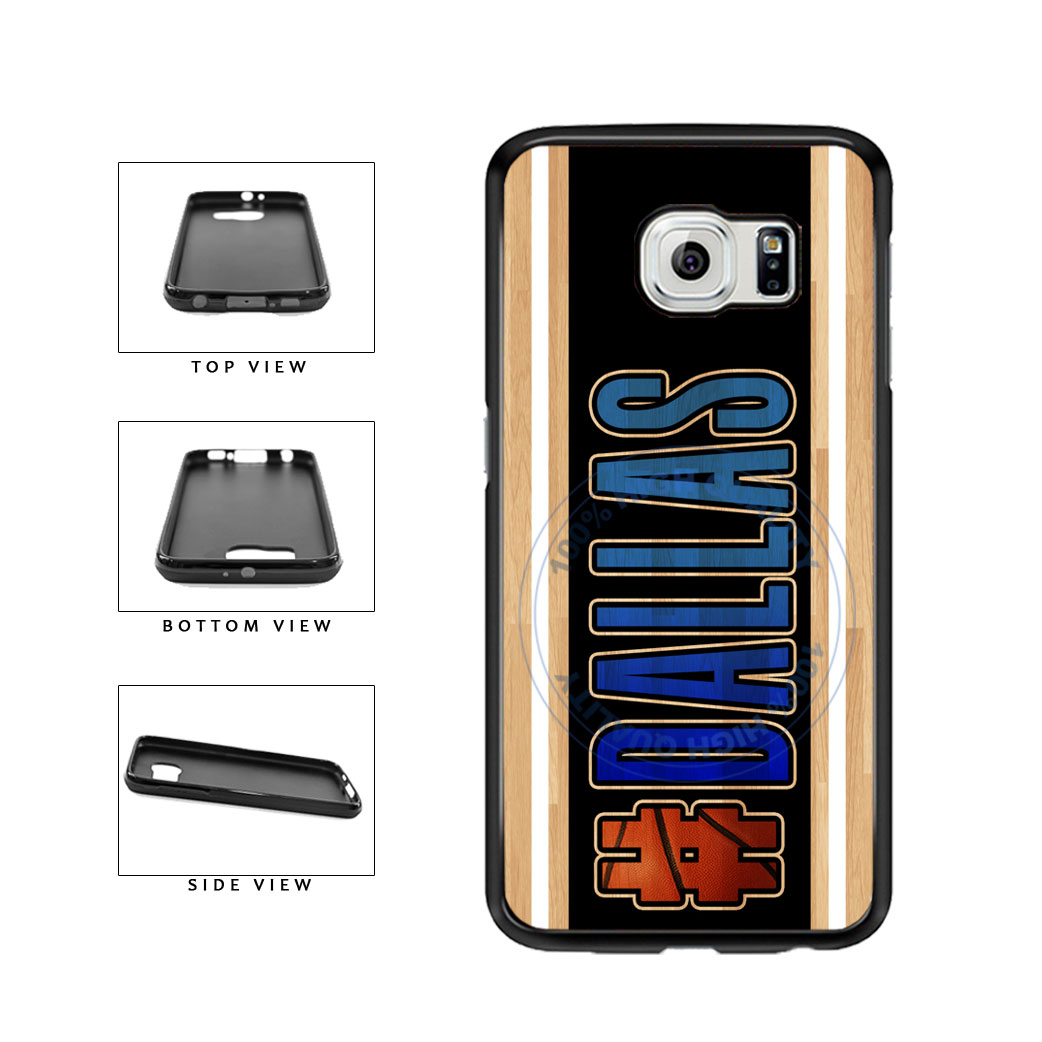 Basketball Team Hashtag Dallas #Dallas TPU Rubber SILICONE Phone Case Back Cover For Samsung Galaxy S6 Edge G925 includes BleuReign(TM) Cloth and Warranty Label