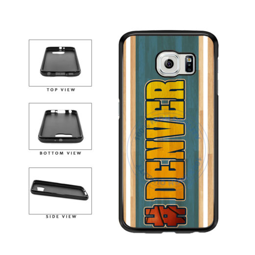 Basketball Team Hashtag Denver #Denver TPU Rubber SILICONE Phone Case Back Cover For Samsung Galaxy S6 Edge G925 includes BleuReign(TM) Cloth and Warranty Label