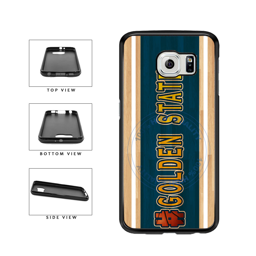 Basketball Team Hashtag Golden State #GoldenState TPU Rubber SILICONE Phone Case Back Cover For Samsung Galaxy S6 Edge G925 includes BleuReign(TM) Cloth and Warranty Label