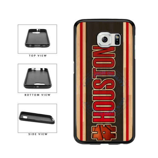 Basketball Team Hashtag Houston #Houston TPU Rubber SILICONE Phone Case Back Cover For Samsung Galaxy S6 Edge G925 includes BleuReign(TM) Cloth and Warranty Label