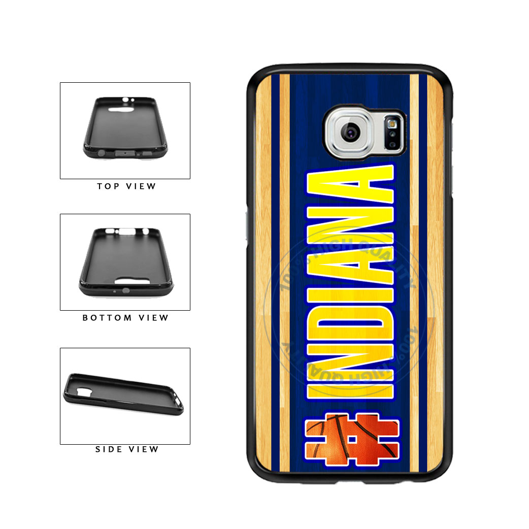 Basketball Team Hashtag Indiana #Indiana TPU Rubber SILICONE Phone Case Back Cover For Samsung Galaxy S6 Edge G925 includes BleuReign(TM) Cloth and Warranty Label