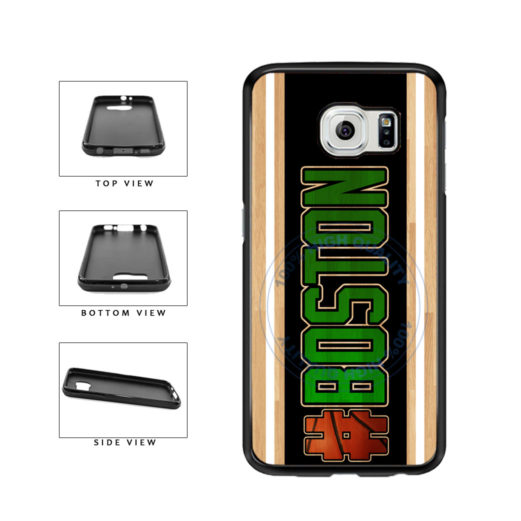 Basketball Team Hashtag Boston #Boston TPU Rubber SILICONE Phone Case Back Cover For Samsung Galaxy S6 Edge G925 includes BleuReign(TM) Cloth and Warranty Label