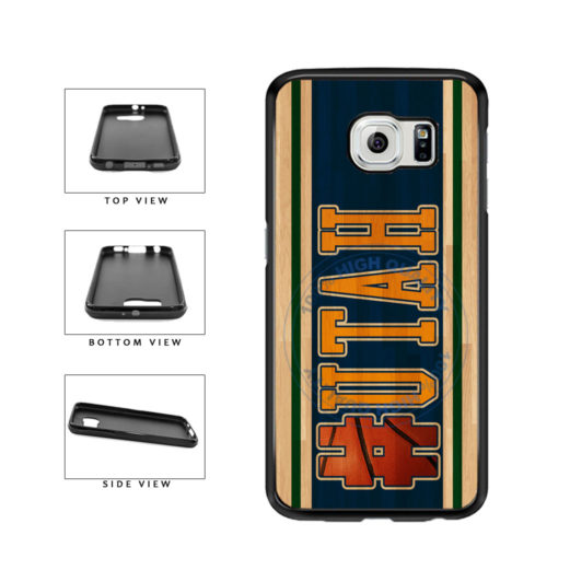 Basketball Team Hashtag Utah #Utah TPU Rubber SILICONE Phone Case Back Cover For Samsung Galaxy S6 Edge G925 includes BleuReign(TM) Cloth and Warranty Label