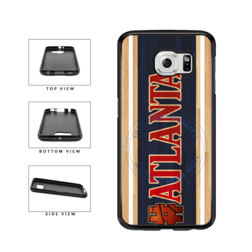 Basketball Team Hashtag Atlanta #Atlanta TPU Rubber SILICONE Phone Case Back Cover For Samsung Galaxy S6 Edge G925 includes BleuReign(TM) Cloth and Warranty Label