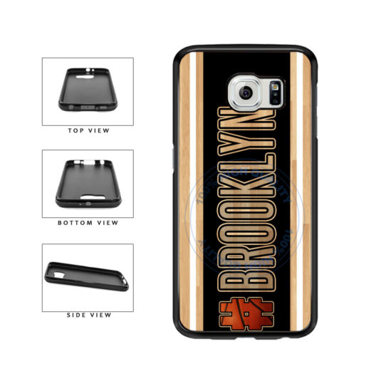 Basketball Team Hashtag Brooklyn #Brooklyn TPU Rubber SILICONE Phone Case Back Cover For Samsung Galaxy S6 Edge G925 includes BleuReign(TM) Cloth and Warranty Label