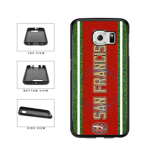 Hashtag San Francisco #SanFrancisco Football Team TPU Rubber SILICONE Phone Case Back Cover For Samsung Galaxy S6 Edge G925 includes BleuReign(TM) Cloth and Warranty Label