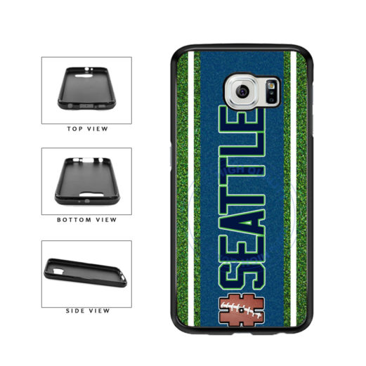 Hashtag Seattle #Seattle Football Team TPU Rubber SILICONE Phone Case Back Cover For Samsung Galaxy S6 Edge G925 includes BleuReign(TM) Cloth and Warranty Label