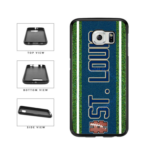 Hashtag St. Louis #StLouis Football Team TPU Rubber SILICONE Phone Case Back Cover For Samsung Galaxy S6 Edge G925 includes BleuReign(TM) Cloth and Warranty Label