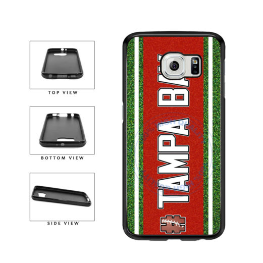 Hashtag Tampa Bay #TampaBay Football Team TPU Rubber SILICONE Phone Case Back Cover For Samsung Galaxy S6 Edge G925 includes BleuReign(TM) Cloth and Warranty Label