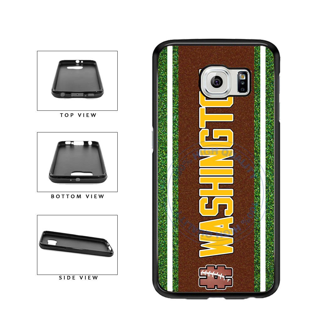 Hashtag Washington #Washington Football Team TPU Rubber SILICONE Phone Case Back Cover For Samsung Galaxy S6 Edge G925 includes BleuReign(TM) Cloth and Warranty Label