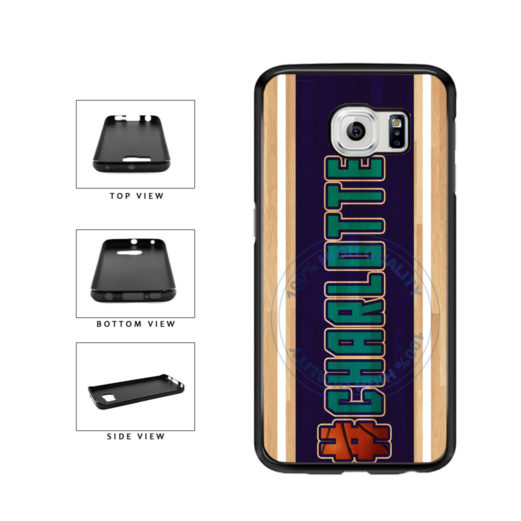 Basketball Team Hashtag Charlotte #Charlotte TPU Rubber SILICONE Phone Case Back Cover For Samsung Galaxy S6 G920 includes BleuReign(TM) Cloth and Warranty Label